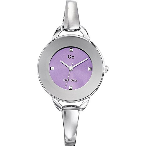 Go Girl Only 694567 Quartz Analog Zifferblatt Violett Armband Metall silber