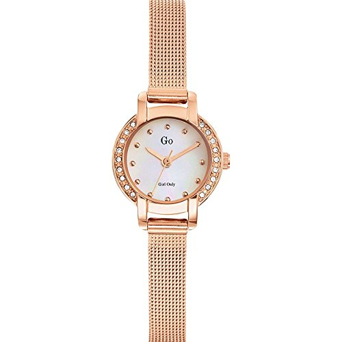 Go Girl Only 694982 Quartz Analog Ziffernblatt Perlmutt Armband Stahl Rosa