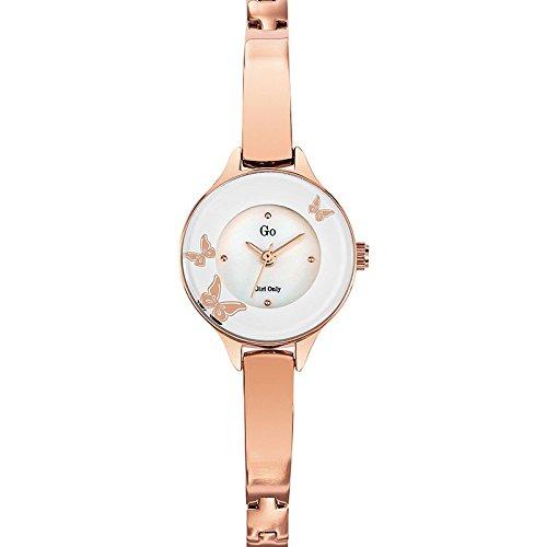 Go Girl Only Damen Armbanduhr 695030 Quartz Analog Ziffernblatt Perlmutt Armband Metall Rosa