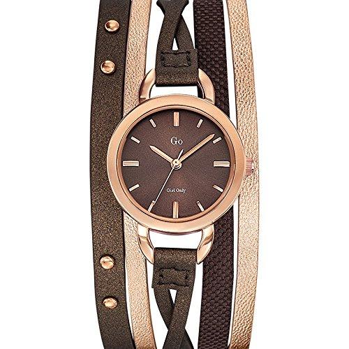 Go girl only Damen Armbanduhr Analog Quarz Schokolade 698578