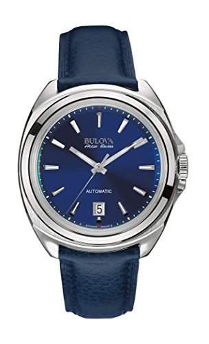 Bulova Herren-Armbanduhr Analog Automatik Leder 63B185