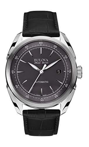 Bulova Herren-Armbanduhr Analog Automatik Leder 63B188