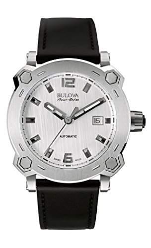 Bulova Herren-Armbanduhr Analog Automatik Leder 63B191