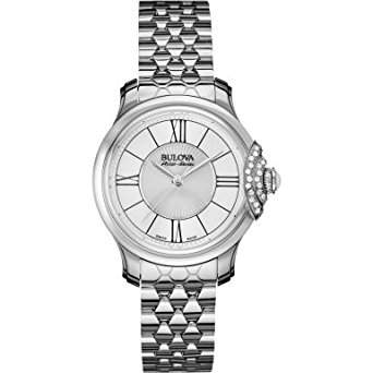 Bulova Damen-Armbanduhr Analog Quarz Leder 63R143