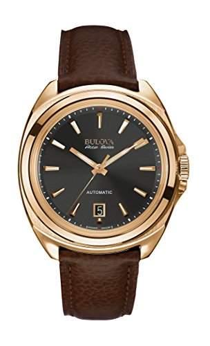 Bulova Herren-Armbanduhr Analog Automatik Leder 64B126