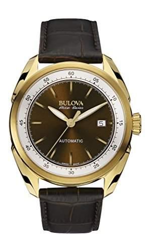 Bulova Herren-Armbanduhr Analog Automatik Leder 64B127