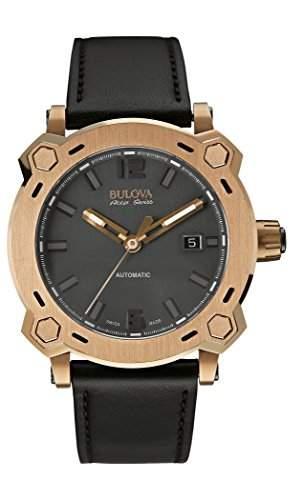 Bulova Herren-Armbanduhr Analog Automatik Leder 64B129