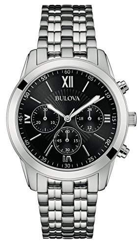 Bulova Herren-Armbanduhr Chronograph Quarz Edelstahl 96A175