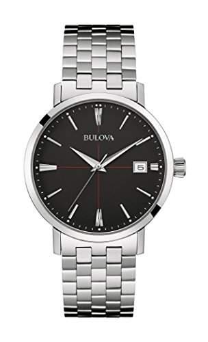 Bulova Herren-Armbanduhr Aerojet Analog Quarz Edelstahl 96B244