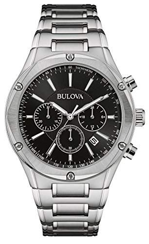Bulova Herren-Armbanduhr Chronograph Quarz Edelstahl 96B247