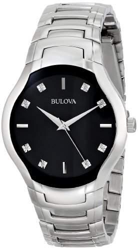 Bulova Herren 96D117 Diamond Dial Armbanduhr