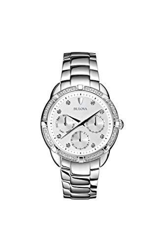 Bulova Damen-Armbanduhr Ladies Diamond Analog Quarz Edelstahl 96R195