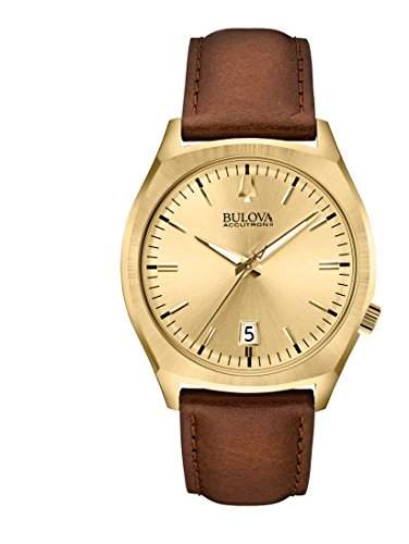 Bulova Herren-Armbanduhr Surveyor Analog Quarz Leder 97B132