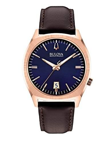 Bulova unisex-Armbanduhr Surveyor Analog Quarz Leder 97B133