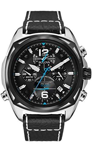 Bulova Herren-Armbanduhr Precisionist Chronograph Quarz Leder 98B226