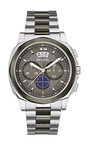 Bulova Herren-Armbanduhr Dress Chronograph Quarz Edelstahl 98B233