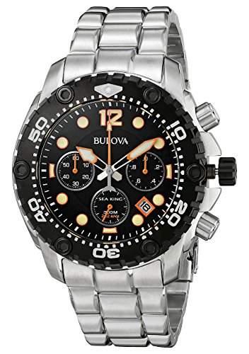 Bulova Herren-Armbanduhr Sea King Analog Quarz Edelstahl 98B244