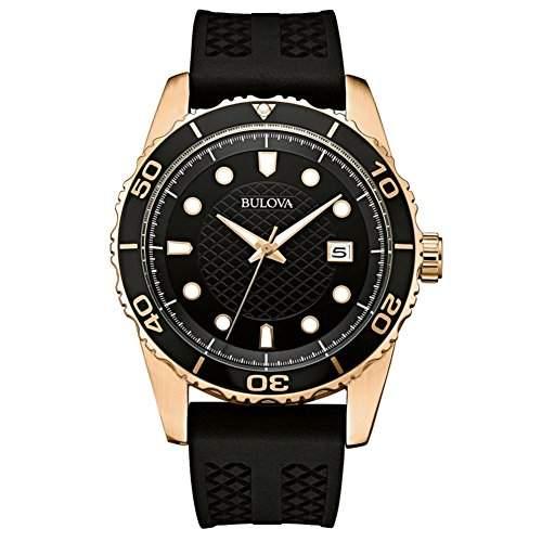 Bulova Herren-Armbanduhr Analog Quarz Kautschuk 98B261