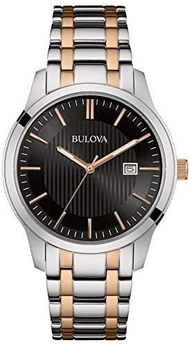 Bulova Herren-Armbanduhr Analog Quarz Edelstahl 98B264
