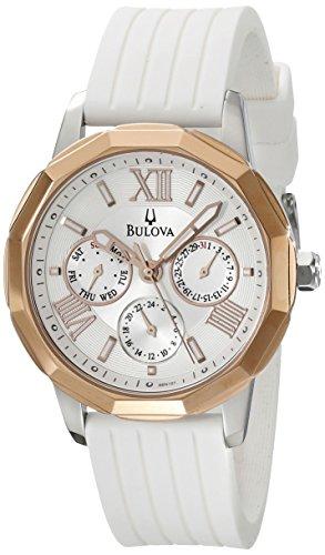 Bulova 98 N101 mit Kautschuk Armband Grau