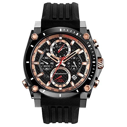 Bulova 98B181 Armbanduhr Herren Kautschukband schwarz