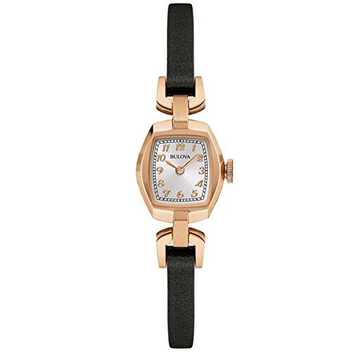 Bulova Damen Armbanduhr Analog Quarz Leder 97L154