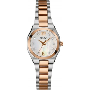 Bulova Damen Armbanduhr Diamond Gallery Analog 98S143