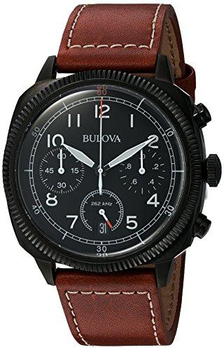 Bulova Military Chronograph Quarz Leder 98B245