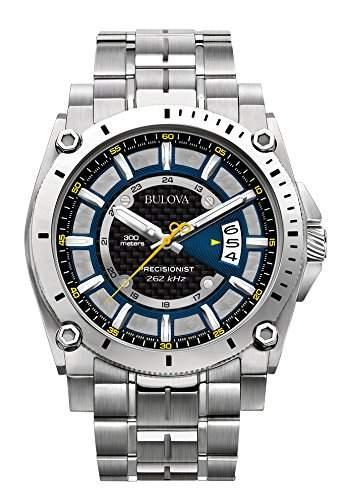 Bulova Herren-Armbanduhr Precisionist Analog Quarz Edelstahl 96B131