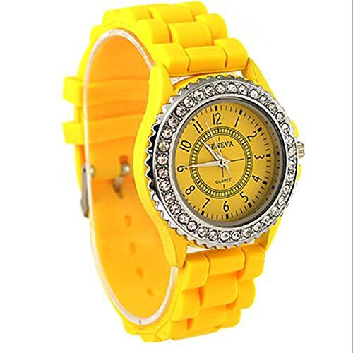 cutebox Unisex g yellow Armbanduhr Quarz Uhrwerk mit Analog Display 1 bis 12 Arabische Ziffer Indizes