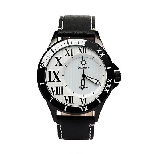 Luxxery Armbanduhr Boston 6 Lederarmband schwarz Analog