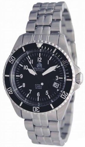 Military Taucher Uhr Automatik Werk verschraubte Krone Edelstahlband T252