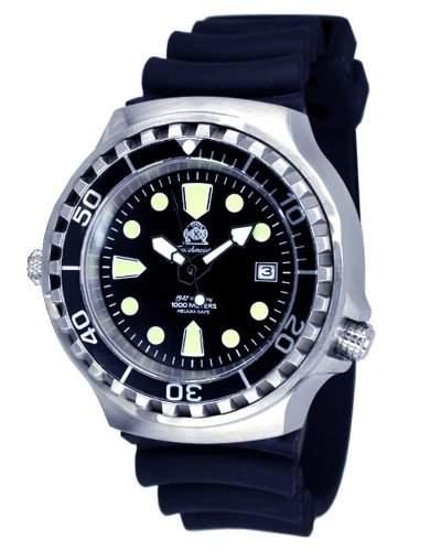 Profi Taucher Uhr m Automatik Werk Saphir Glas Helium Ventil von Tauchmeister T0046