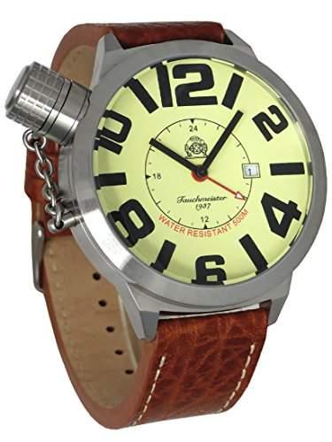 XXL-Schwere U-Boot GMT Militaer-Taucher Uhr von Tauchmeister T0066