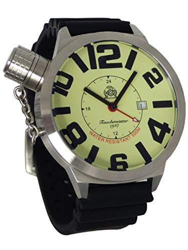 XXL-Schwere U-Boot GMT Militaer-Taucher Uhr von Tauchmeister T66PU