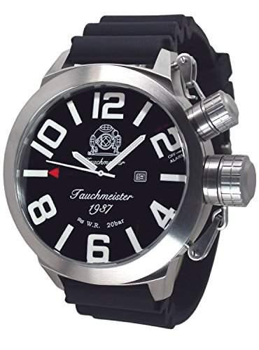 53mm XXL-Max-SIZE Tauchmeister Alarm-Taucher Uhr T0225PU