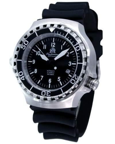 Military Taucher Uhr Automatik Werk Saphir Glas - verschraubte Krone T251