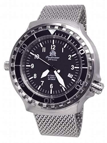 Tauchmeister 46mm Automatik Uhr Milanaiseband Saphir Glas T0251-MIL T0251MIL
