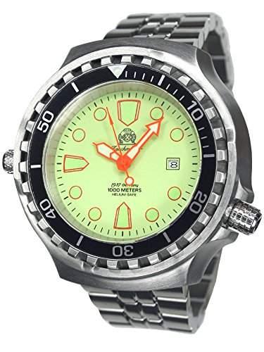 52mm GROSSE Automatik Uhr mit Edelstahl Band T0269-M