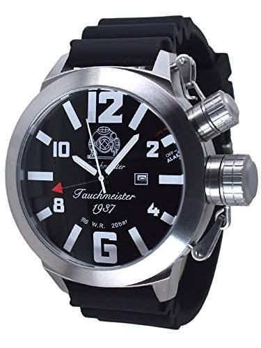 53mm XXL-Max-SIZE Tauchmeister Alarm-Taucher Uhr T0273PU