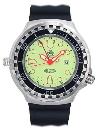 Tauchmeister 52mm Automatik Uhr 24 Std Funktion Saphir Glas T0276