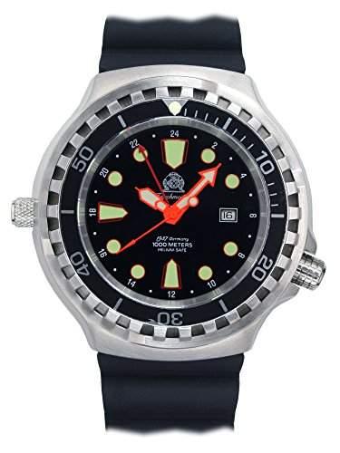Tauchmeister 52mm Automatik Uhr 24 Std Funktion Saphir Glas T0278