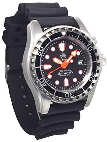 Automatik Taucher Uhr mit Spahirglas und Heliumventil 1000m T0283
