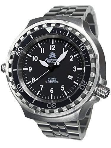 Tauchmeister 52mm Automatik Uhr Metallband Saphir Glas T0286-M
