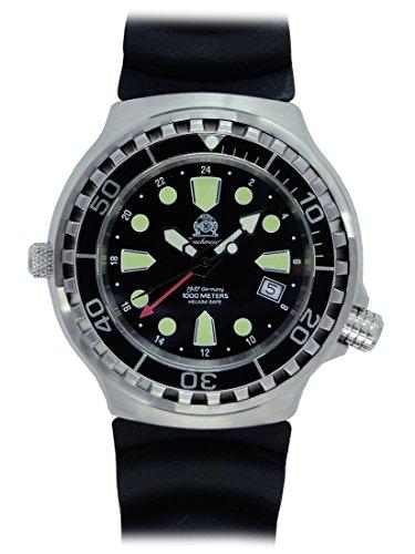 Tauchmeister Uhr mit Swiss Ronda 24 Std GMT Werk Saphir Glas T0299