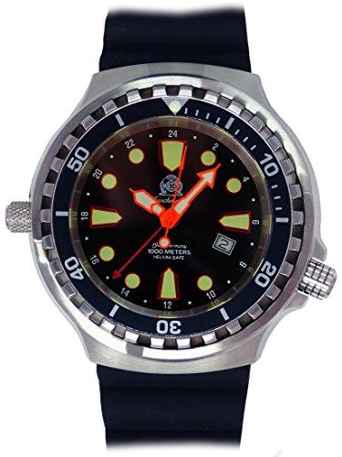 Tauchmeister Uhr mit Swiss Ronda 24 Std GMT Werk Saphir Glas T0301