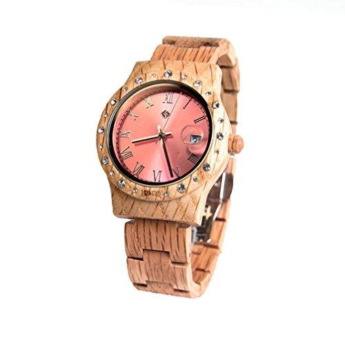 Aurora Holz Armbanduhr Pink Shiny Koa