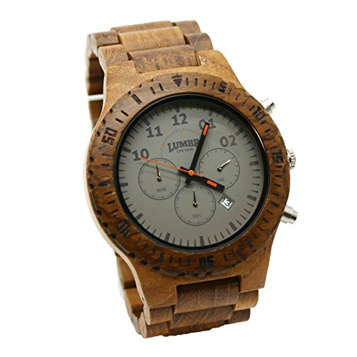 Chrono Teak Holz armbanduhr Herren