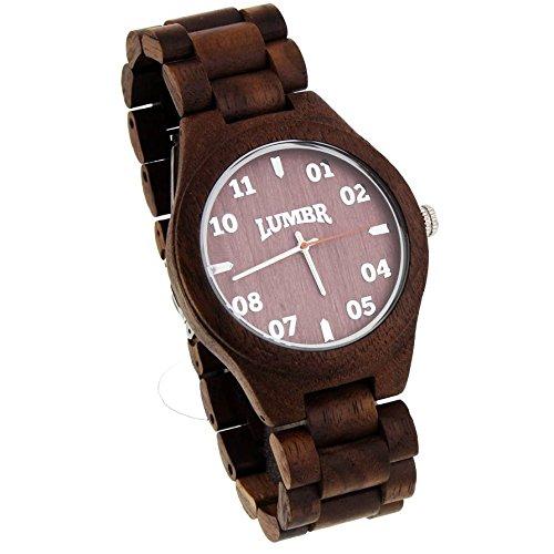T1M3 Armbanduhr aus Walnuss holz Herren