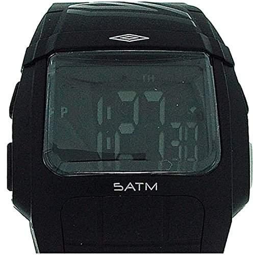 UMBRO Digitale Herren-Jungen-Sportarmbanduhr, multifunktional mit schwarzem Gummiarmband U536B